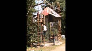 Wire Corn Crib Build