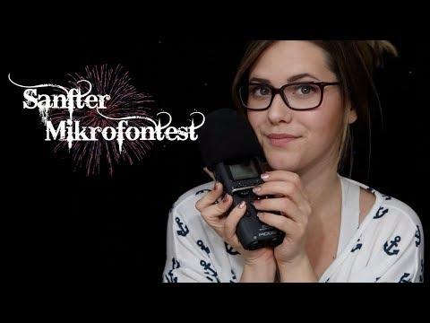 ASMR Sanfter MIKROFONTEST ♡ Zoom H5 ♡ Whisper Rambling, Mic Tapping & Brushing in German/Deutsch
