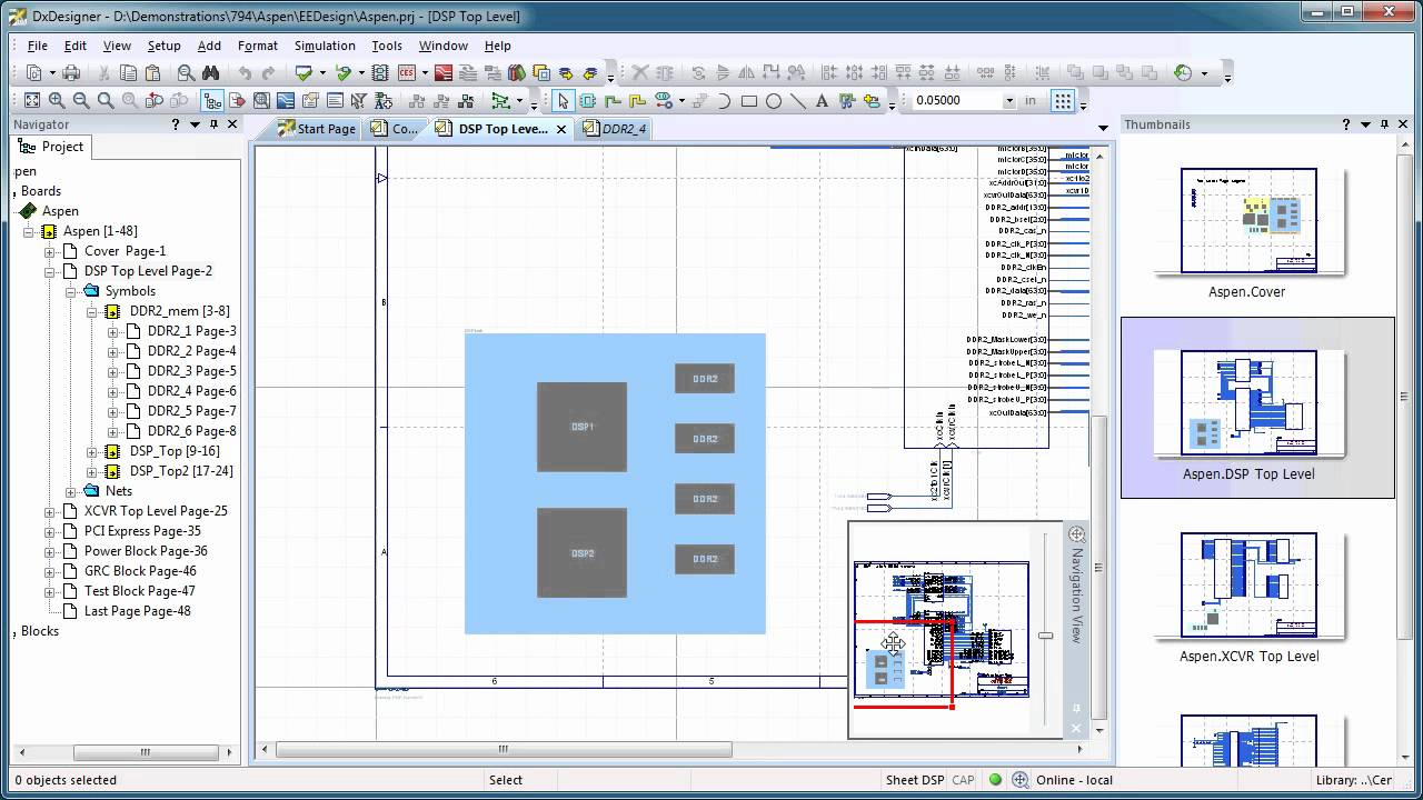 Mentor Graphics DxDesigner Schematic Navigation