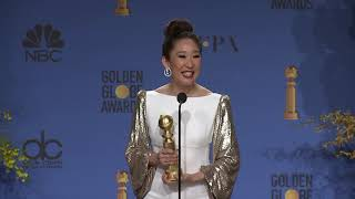 Sandra Oh - Golden Globes - Full Backstage Interview