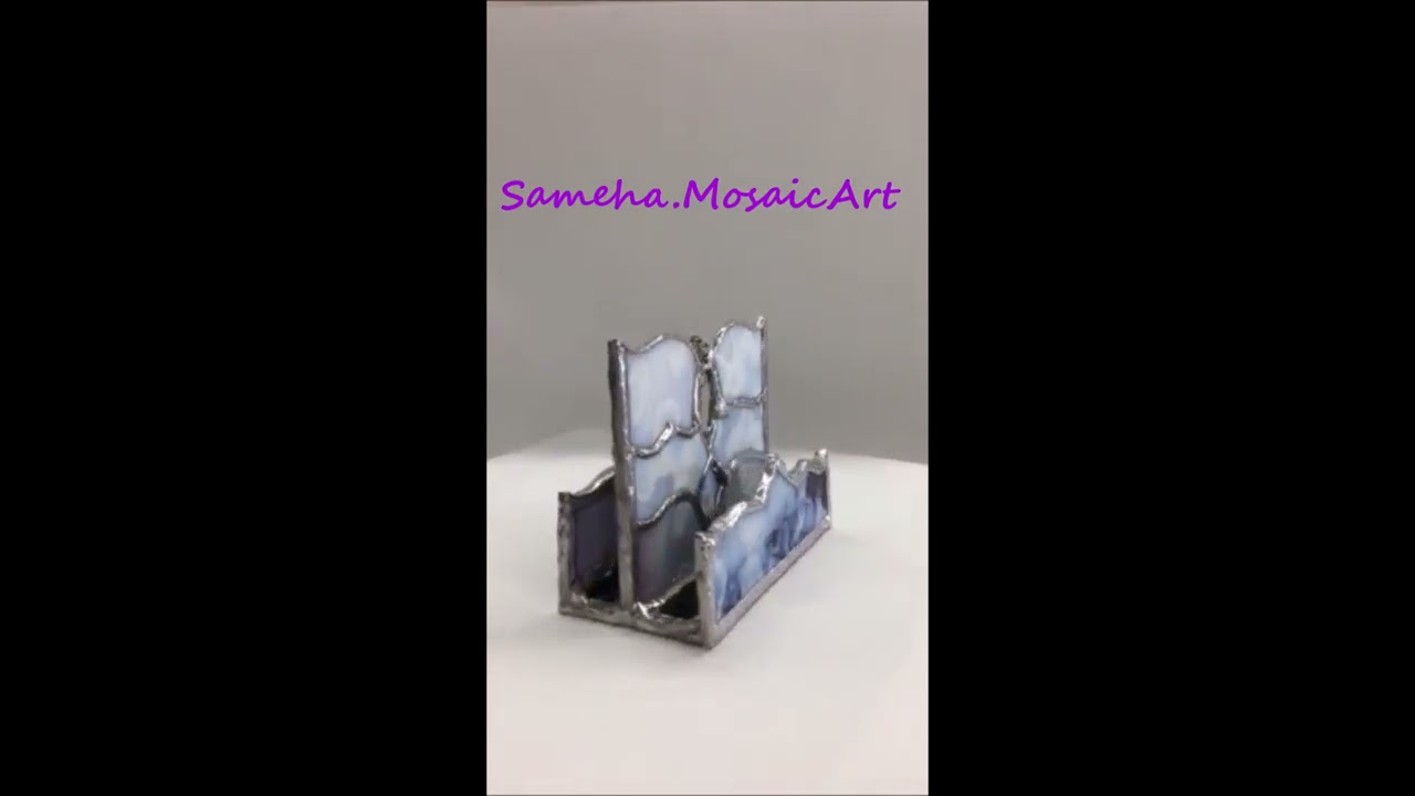 Stained Glass Business card holder 1 - YouTube