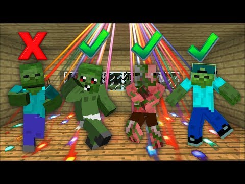 BABY ZOMBIE HAS A PARTY IN SMALL HOUSE IN MINECRAFT! MARK FRIENDLY ZOMBIE GETS ANGRY! Minecraft Mods