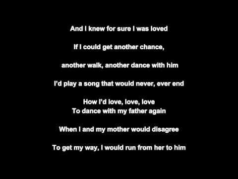 Dance With My Father (lyrics)