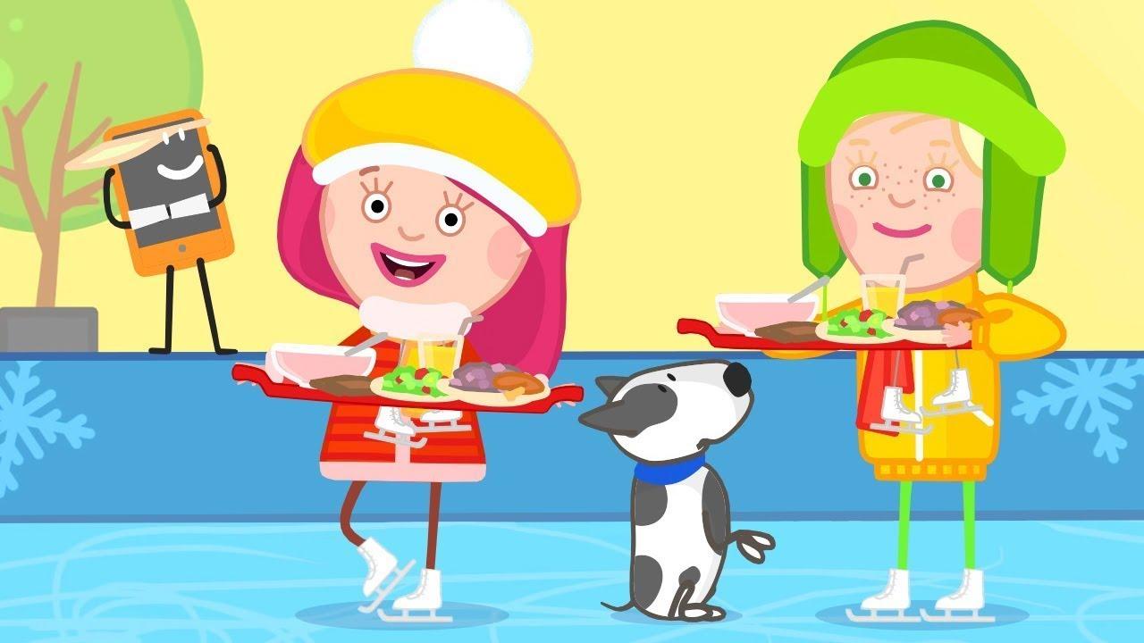 Смарта и Амалия в кафе  - Развивающий мультик Смарта и чудо сумка - Мультсериал для детей