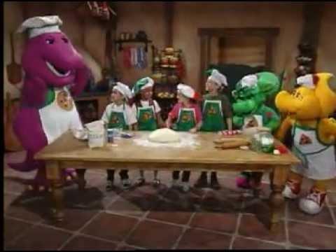 Barney Adventure Bus - Make a Pizza Dough Song