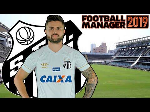 AO VIVO! Football Manager 2019 - Carreira - Santos