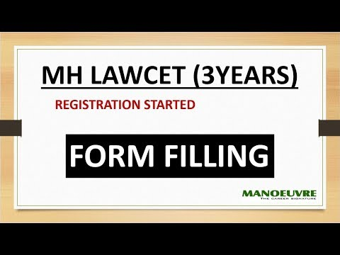 MH LAWCET (3YEARS) - 2018 - APPLICATION FORM FILLING (REGISTRATION)
