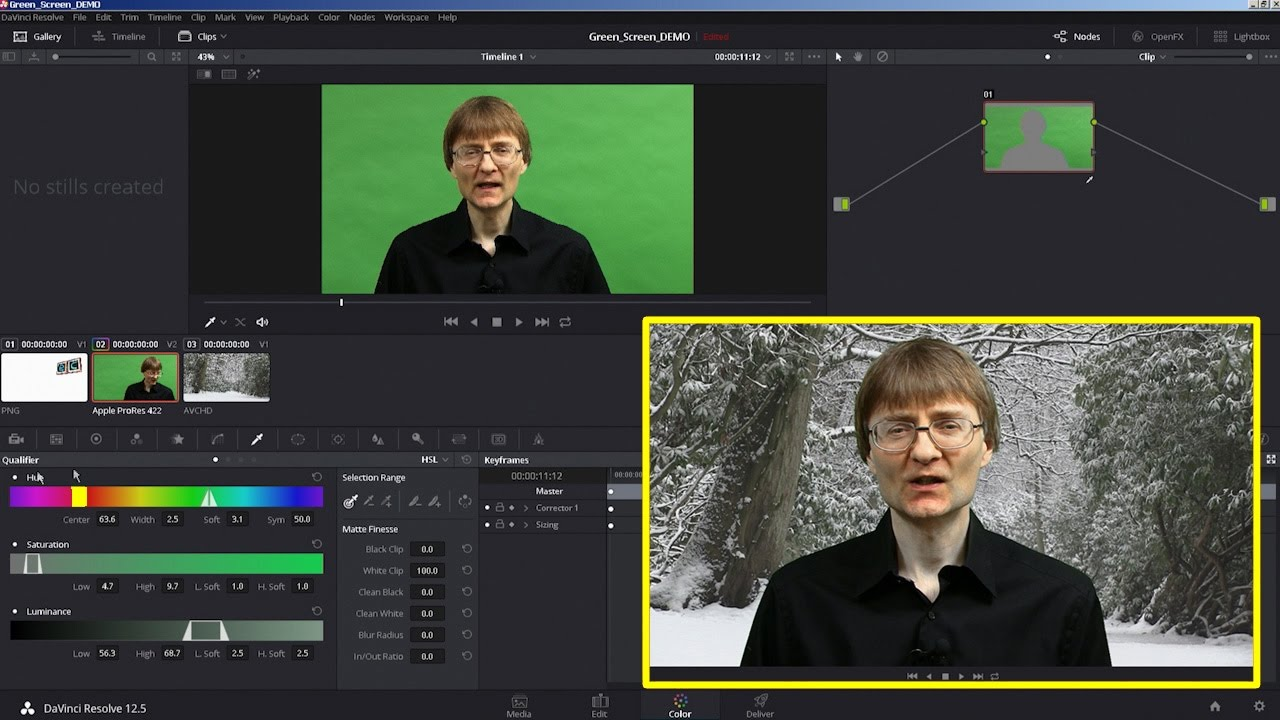 How to Do a Green Screen Composite with DaVinci Resolve