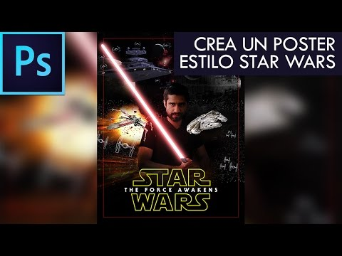 Photoshop CC Tutorial #11 - Create a STAR WARS poster