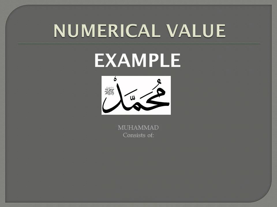 The Numerical Value Wmv