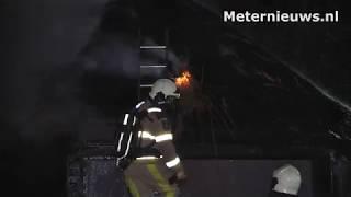 Rietgedekt gebouwtje brand af in de Vinkenbuurt