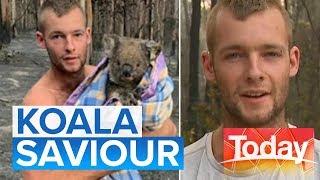 Aussie stays in fire zone to rescue injured koalas: Australia bushfire crisis   Today Show Australia