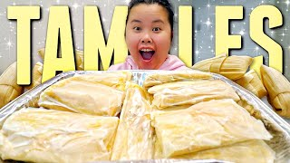 AUTHENTIC HOMEMADE MEXICAN CHICKEN TAMALES + STRAWBERRY TAMALES + GREEN SAUCE MUKBANG 먹방 EATING SHOW