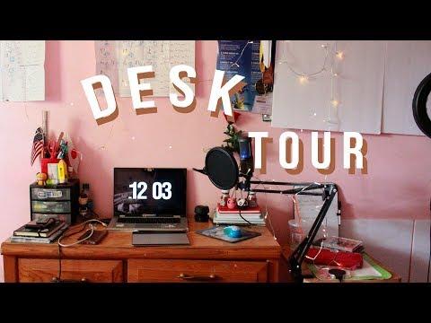 Aesthetic Desk Tour 2018 | Carritube