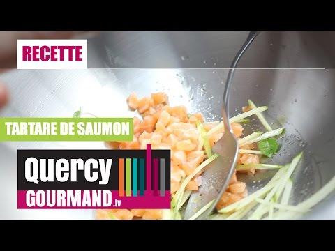 Recette : Tartare de saumon – quercygourmand.tv