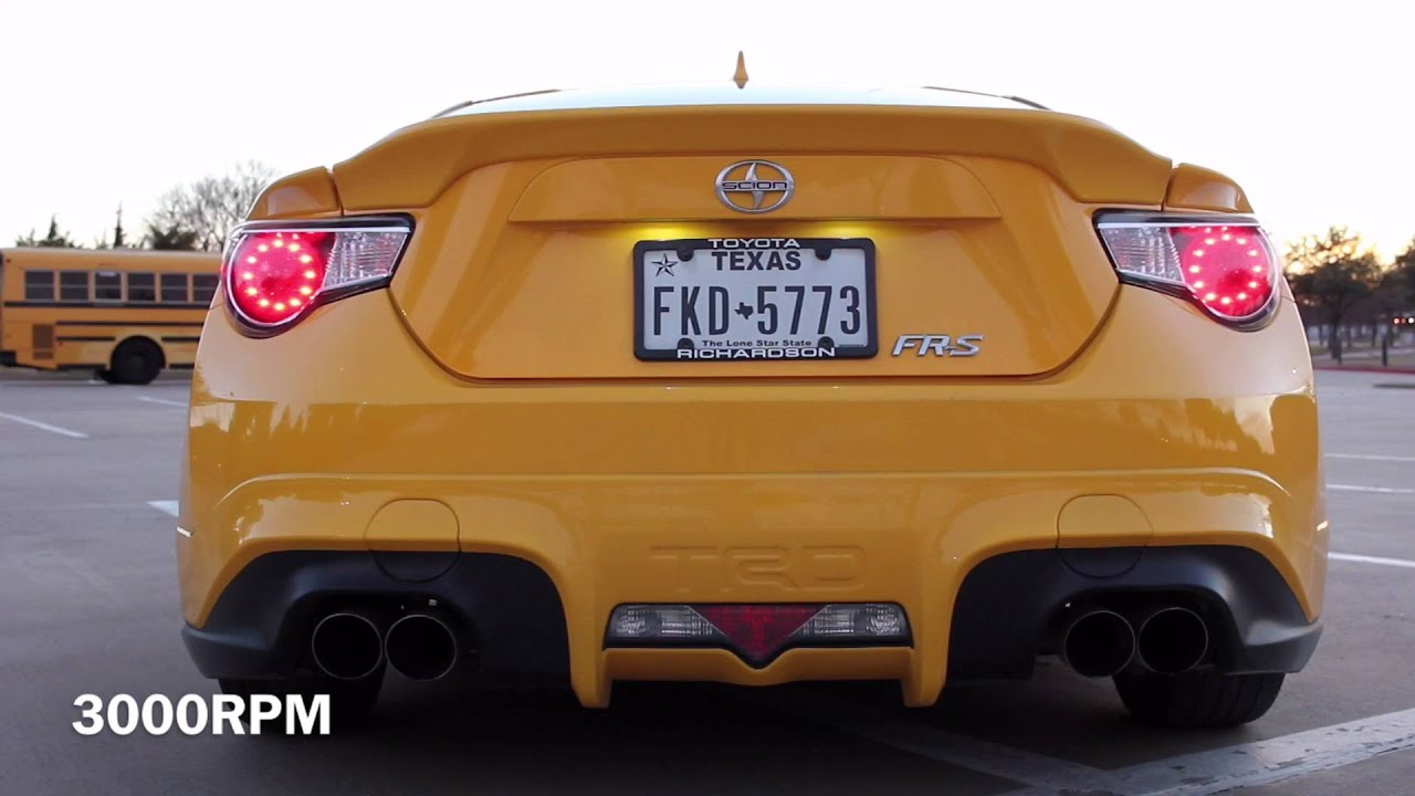 FRS HKS Dual Resonated FP And TRD Quad Tip Cat Back