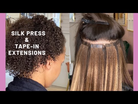 Silk Press And Tape In Extensions