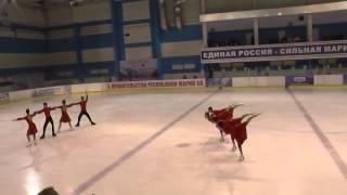 Чемпионат России по синхронному катанию  МС  КП 3 Дрим тим САМ