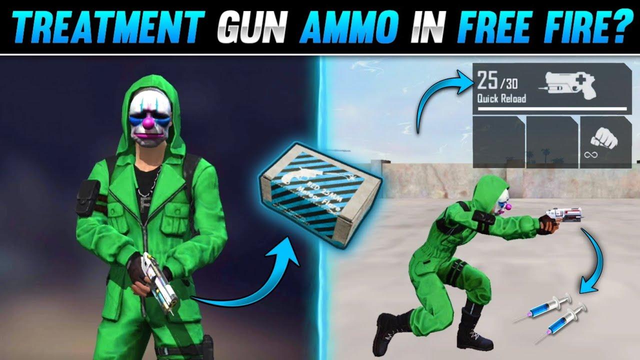 TOP 5 SECRET TRICKS IN FREE FIRE | TREATMENT GUN AMMO IN RANK MATCH - FREE FIRE TIPS AND TRICKS