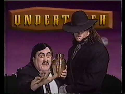 The Undertaker (with Paul Bearer) Promo [1991-12-21] - YouTube