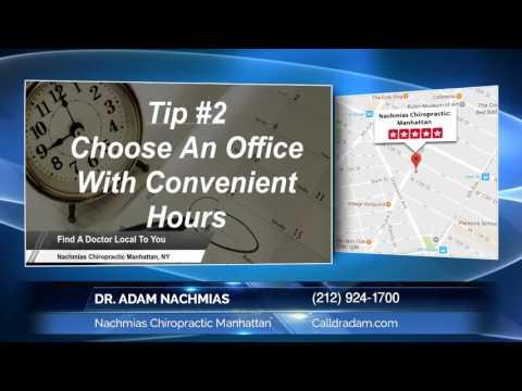 Best Chiropractor Manhattan New York Dr. Adam Nachmias - Nachmias Chiropractic