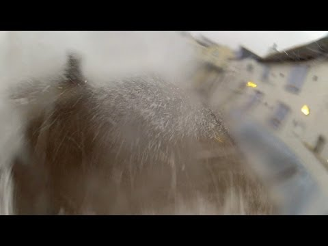 Torcross Friday 14th 2014 Thundering Waves Smashing Against The Sea Defences GoPro Action