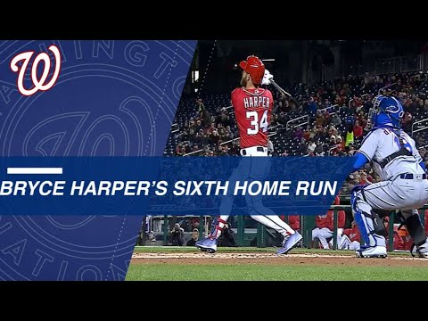 Bryce Harper CRUSHES his sixth home run in only nine games