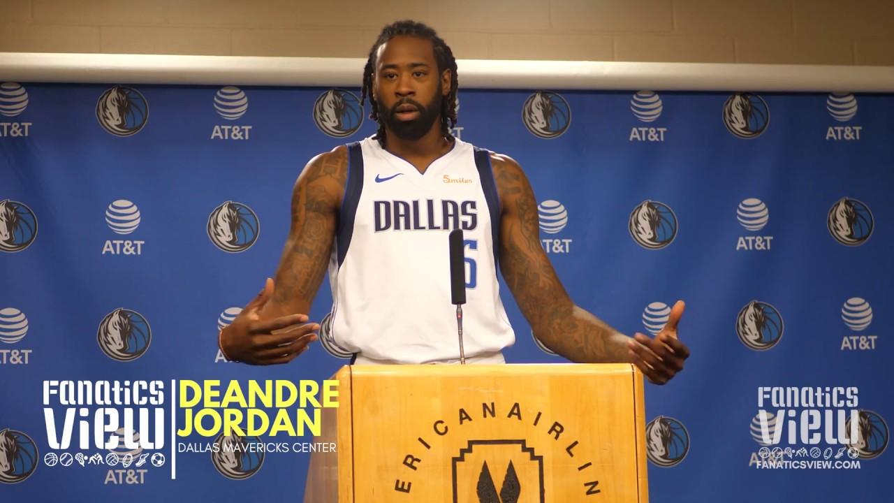 innovative design 169aa bb69c DeAndre Jordan previews Dallas Mavericks 2018-2019 Season (Full Press  Conference)