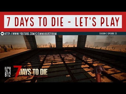 7 Days to Die A16 S2 Ep 25 Creating the crafting room