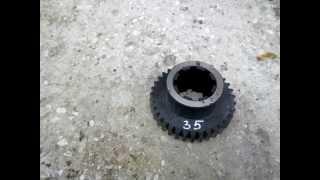 видео Блок шестерня второй оси m-4 z-35 z-35 1А64.02.841 (Для станков 1М65 1Н65 ДИП500 165)