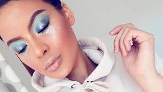 Feeling BLUE // Glitter Tears makeup tutorial