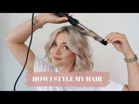 HOW I STYLE MY HAIR / WAVING/CURLING SHORT HAIR / LAURA BYRNES