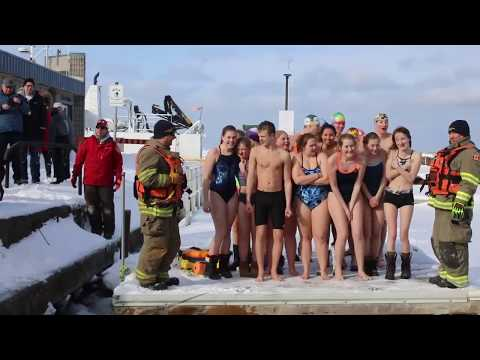 Saugeen Shores Lifesaving Club's Polar Bear Dip 2019