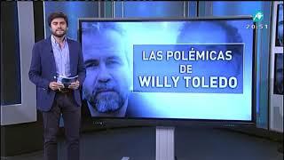 El TOP de las polémicas de Willy Toledo. ¿Por qué conoces a Willy Toledo?