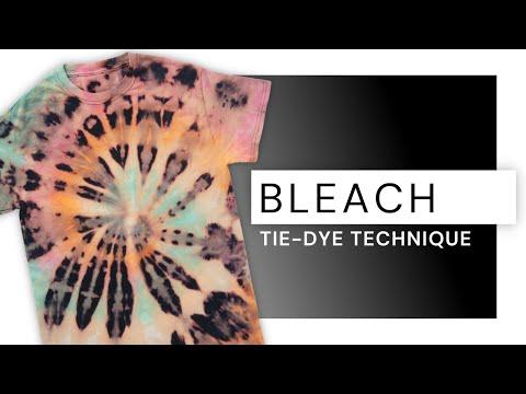Bleach black shirt tie dye