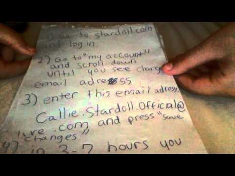 how to change stardoll password