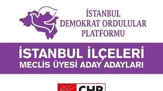 CHP - İstanbul İlçeleri Meclis Üyesi Aday Adayları