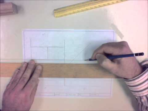 How to Draw an object with Orthographic Projection Part 1