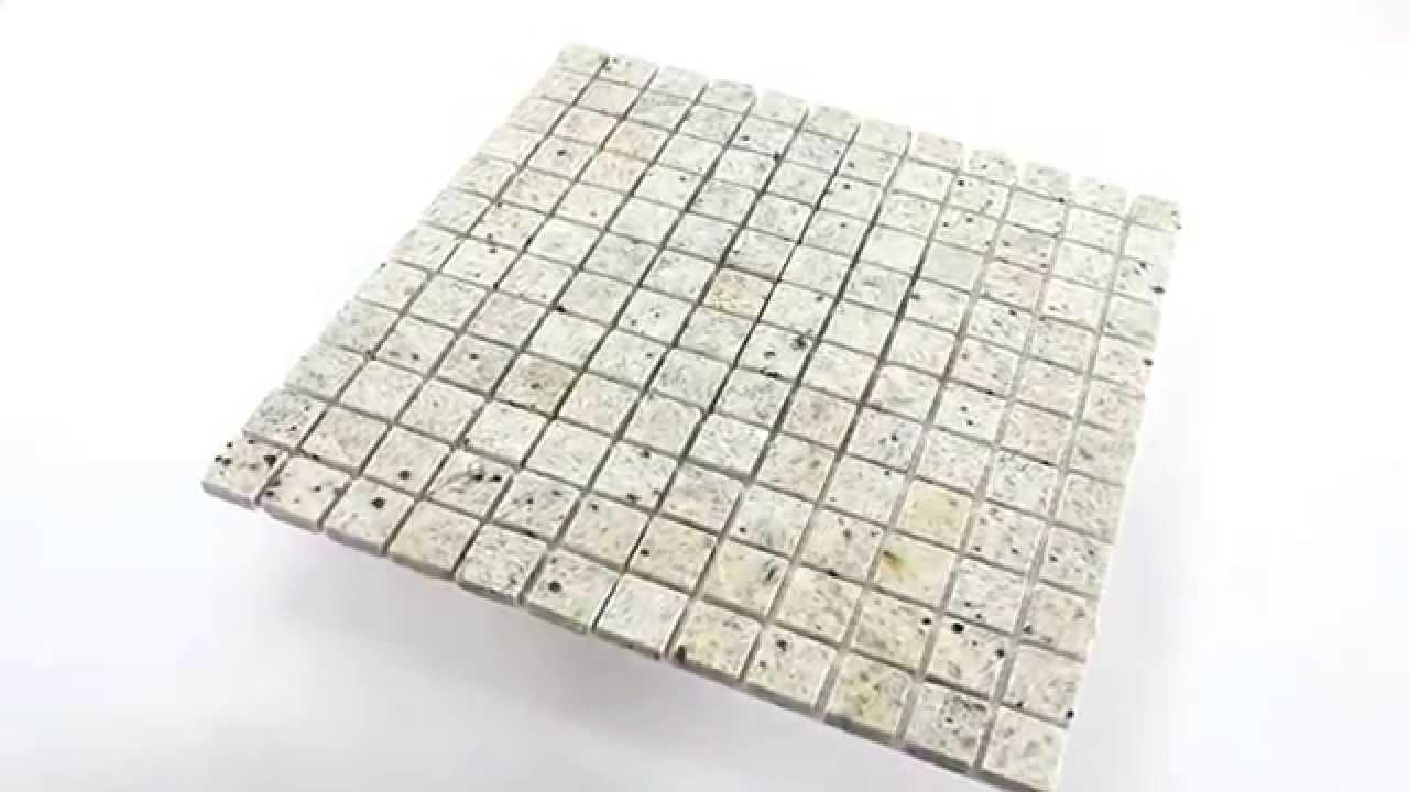 Granit Mosaik Fliesen 23x23x8mm Grau Weiss