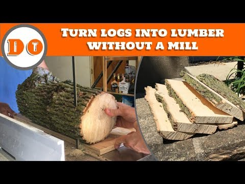 How to mill lumber with a band saw