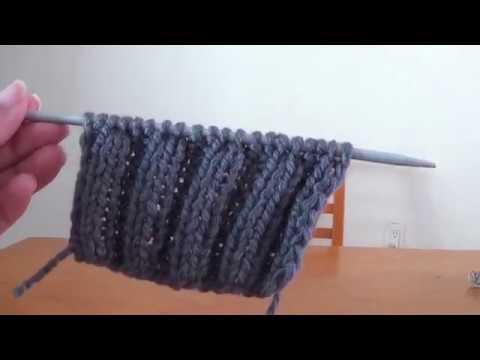 72e0c6509 Muestra para tejer resorte o elástico doble a 2 agujas - YouTube