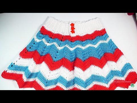73499d261 Falda a crochet para niña muy fácil y rápido