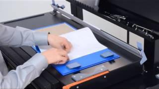 Fastbind 3030 workstation making custom printed 3 RING BINDER cases