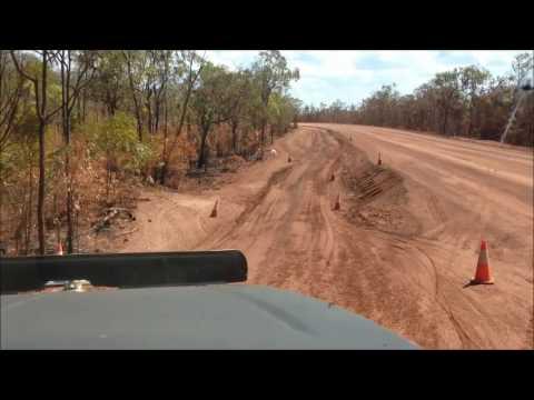 Working on the Peninsula Developmental Road On Cape York