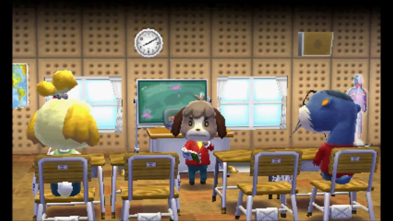 animal crossing: happy home designer - decorating the school - youtube