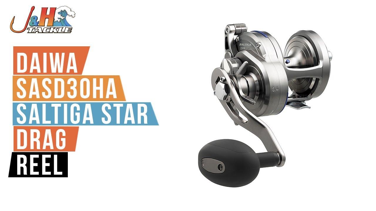 5b95847f954 Daiwa SASD30HA Saltiga Star Drag Reel | J&H Tackle - YouTube