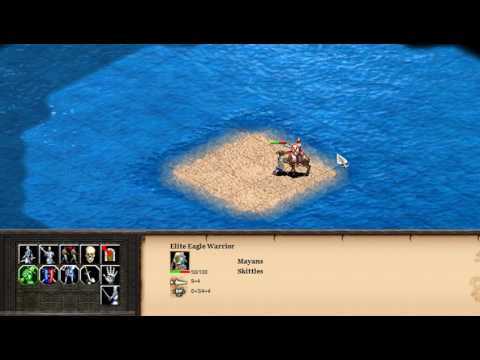 Mayan Eilite Eagle Warrior vs Indian Imperial Camel (AOE2HD)