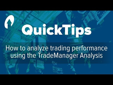 How to analyze trading performance using the TradeManager Analysis