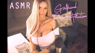 ASMR Girlfriend put you to sleep   english soft whispering   Personal Attention Roleplay soft spoken