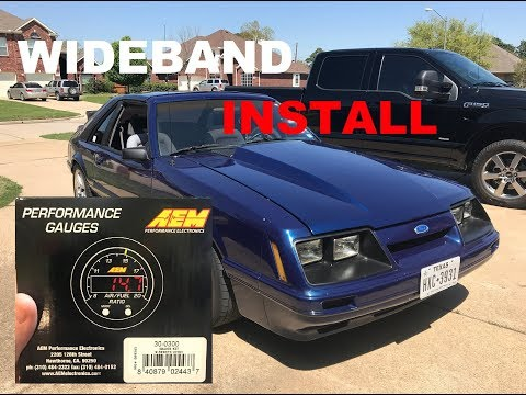 1986 Mustang GT Project - AEM Wideband A/F Ratio gauge Install